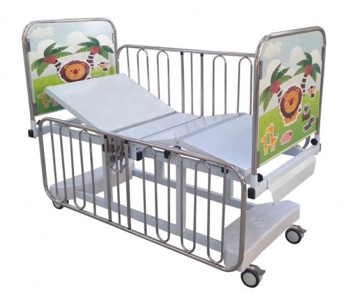 Cama Fawler Infantil Elétrica Dorso Pernas e Elevação de Altura